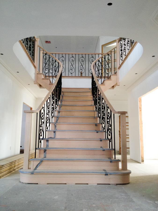 Staircase constructions custom stairs greater geelong for Double curved staircase